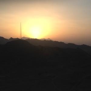 Výhled z Tower of silence na okraji Yazdu