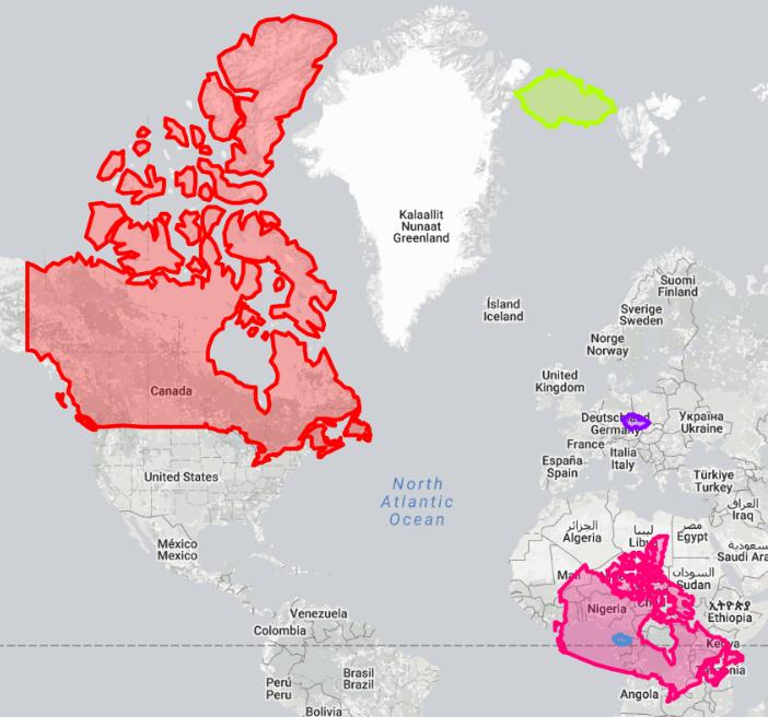8 příkladů jak nám mapy lžou – The True Size of…